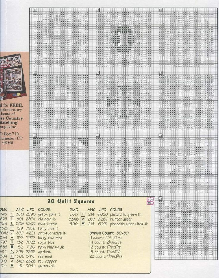 Quilt Patterns Cross Stitch : 1174 best cross stitch images on Pinterest Cross stitch patterns, Counted cross stitches and ...
