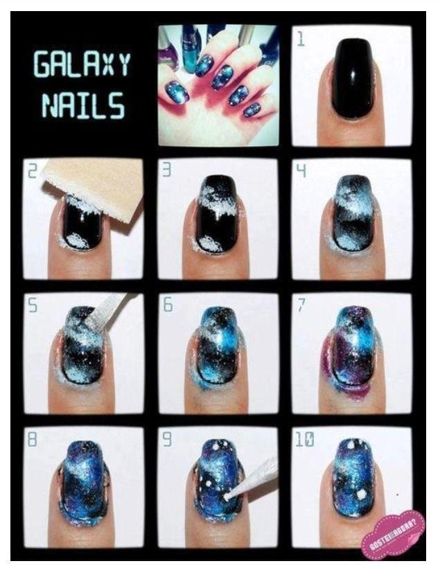 25 trending galaxy nails tutorial ideas on pinterest diy nails galaxy nails tutorial gostei e agora prinsesfo Gallery