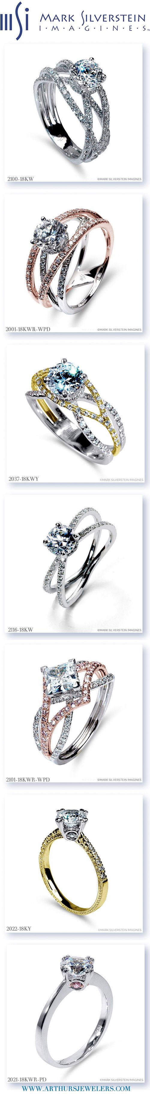 See 7 of the most popular Mark Silverstein Imagines Engagement Rings at Arthur's Jewelers Engagement Ring & Diamond Event on April 24-25, 2015