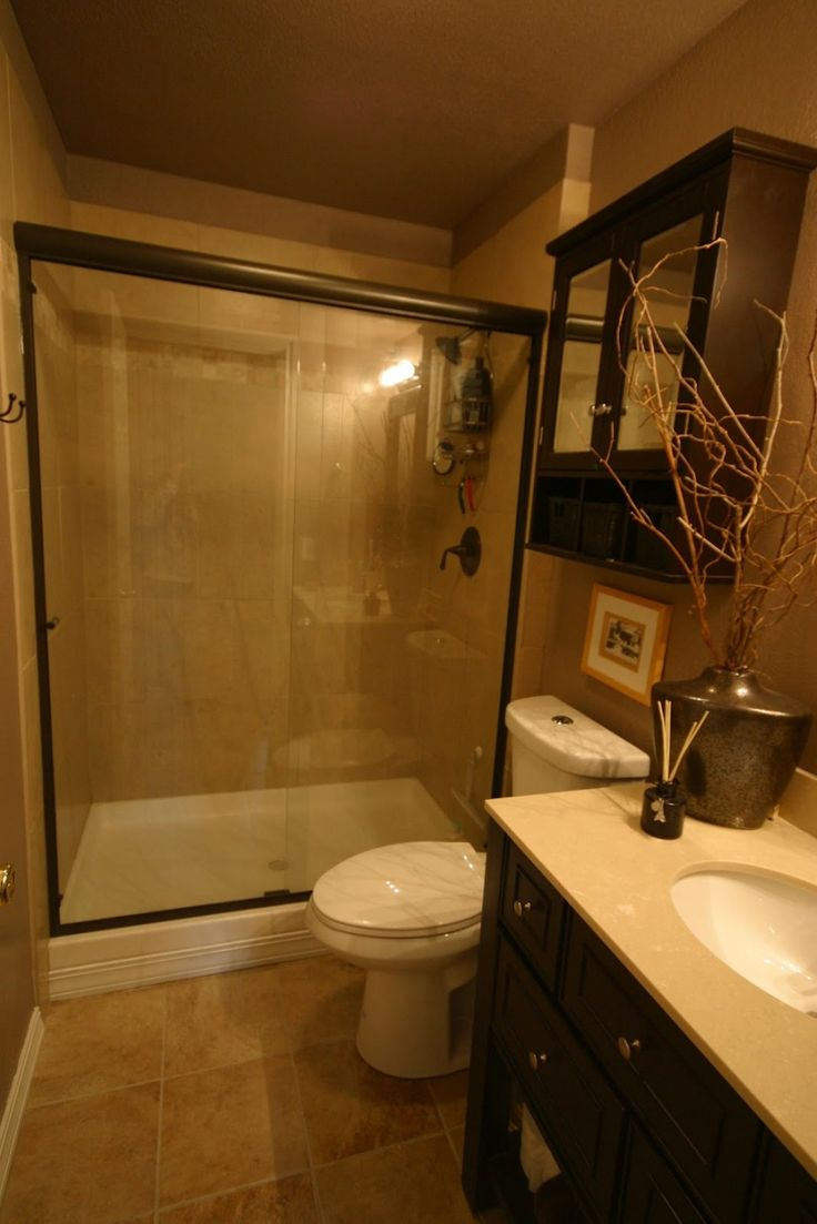 Miraculous Small Bathroom Renovation In Gorgeous Beige Color With Simple Attractive Decoration
