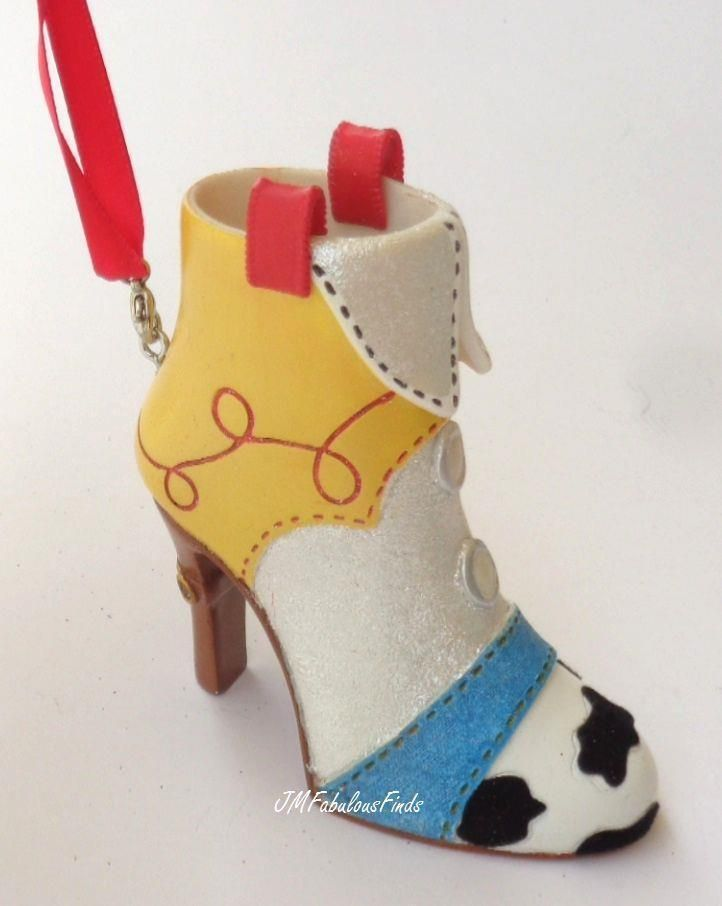 Disney Parks Jessie from Toy Story Boot Shoe Christmas Ornament Collection #Disney