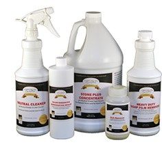 Recommended Products For Cleaning Marble, Granite And All Natural Stone.  Safe, Proven And
