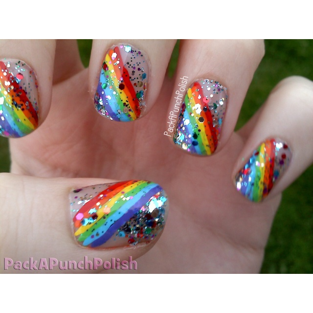 Glitter Nail Polish Rainbow: 26 Best Images About St. Patrick's Day Nails On Pinterest