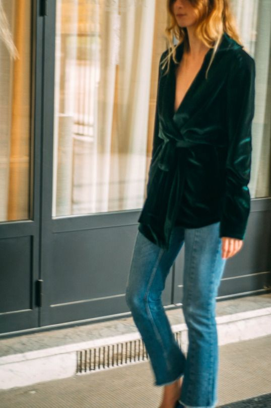 """This outfit by The Blab is perfect for the Stockholm spring. """"Spring"""" #denim…"""