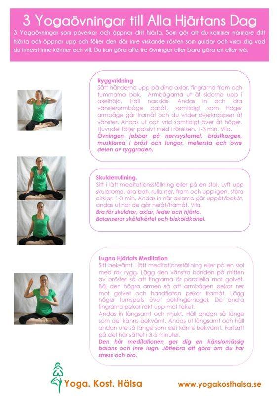 Tre bra yogaövningar för hjärtchakrat    #mediyoga #medicinskyoga #kundaliniyoga #yoga #meditation #avslappning #chakra #anahat #hjärtchakrat