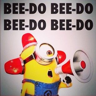 i love minions, but when you have a 5 year old nephew running around screaming BEE-DO BEE-DO BEE-DO BEE-DO you kinda start to hate the person who made that line :P