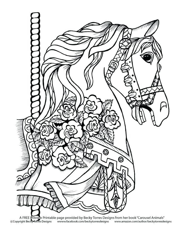Carousel Horse Coloring Page Youngandtae Com Horse Coloring Pages Horse Coloring Books Horse Coloring