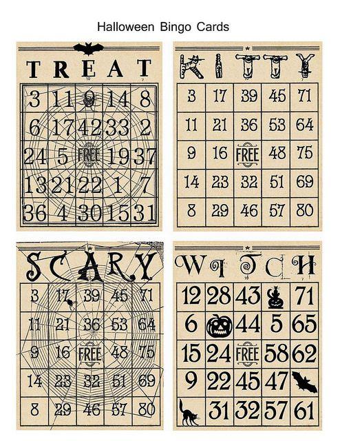 halloween bingo cards copy | by isabellasnow