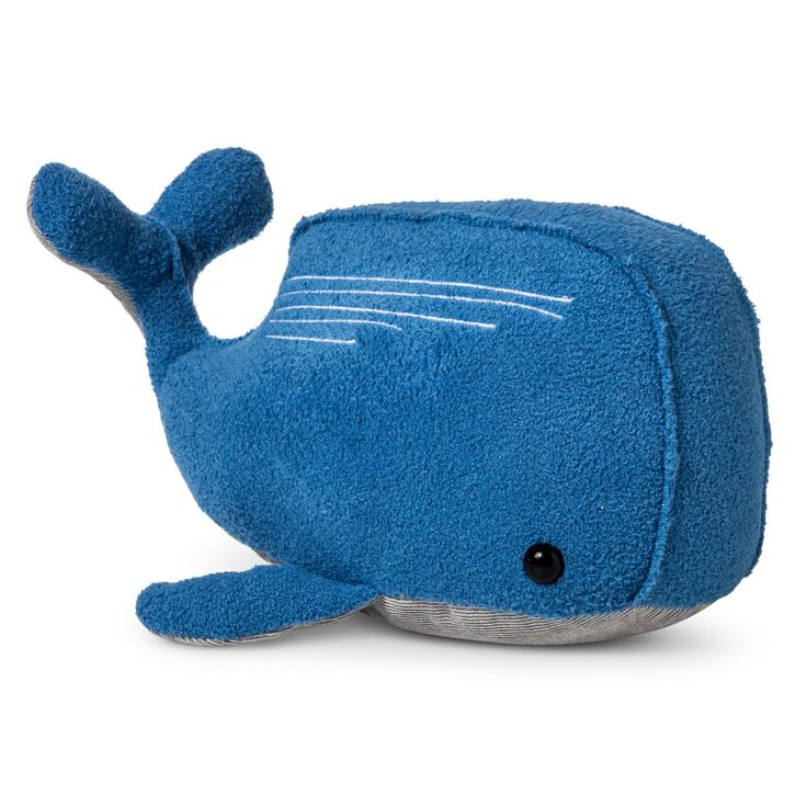 Your little one will have a whale of a time when they have the Blue Plush Whale from Cloud Island™ as their cuddly companion. This bright blue whale is soft and plush so baby will love hugging it close, and OEKO-TEX® certified so you won't mind when they do. Perfect as a snuggle buddy during walks in the stroller, tummy time or bedtime stories, this whale can be a treasured stuffed animal for years to come.<br><br>Sleep Safely, Little One <br>When putti...