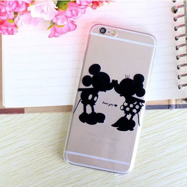 Disney Mickey Mouse, Minnie Mouse, Goofy, Donald, Pluto Transparent Phone Case