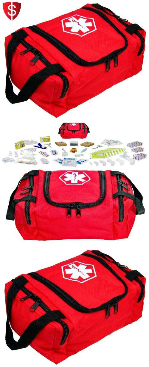 Kits and Bags: First Aid Kit Emergency Bag Medical Survival Trauma Travel Camping Stocked Red BUY IT NOW ONLY: $47.5