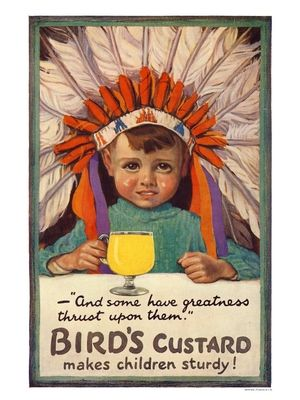 BP038K - Birds Custard, Vintage Advert from 1920s (30x40cm Art Print)