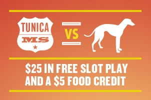 Find out how to get your $25 in Free Slot Play in #Tunica when you #DitchTheDog