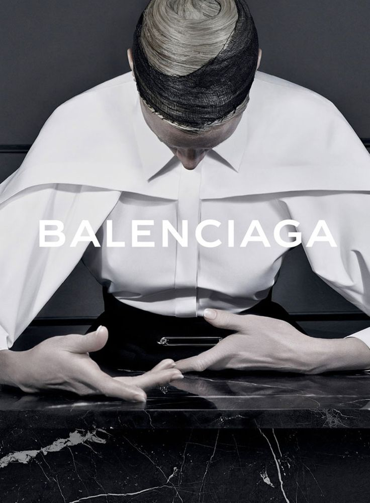 Steven Meisel shoots Balenciaga's campaign for a consecutive season under the creative direction of Alexander Wang. Kristen McMenamy is the campaign star for Fall/Winter 2013, styled by Jacob K.