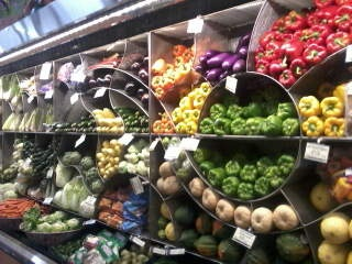 Cool produce display
