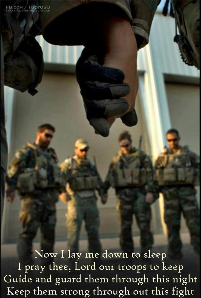 Love this image - Remember the service members in your bed time prayers tonight - MilitaryAvenue.com