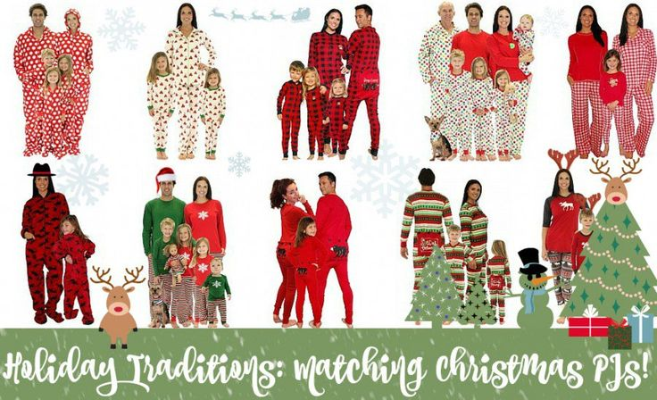 It's all the rage! Matching Christmas Pajamas for the whole family!