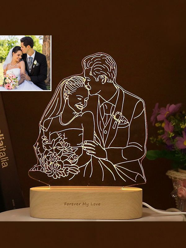 Personalised Photo Acrylic 3d Led Lamp In 2020 3d Led Lamp Night Light 3d Night Light