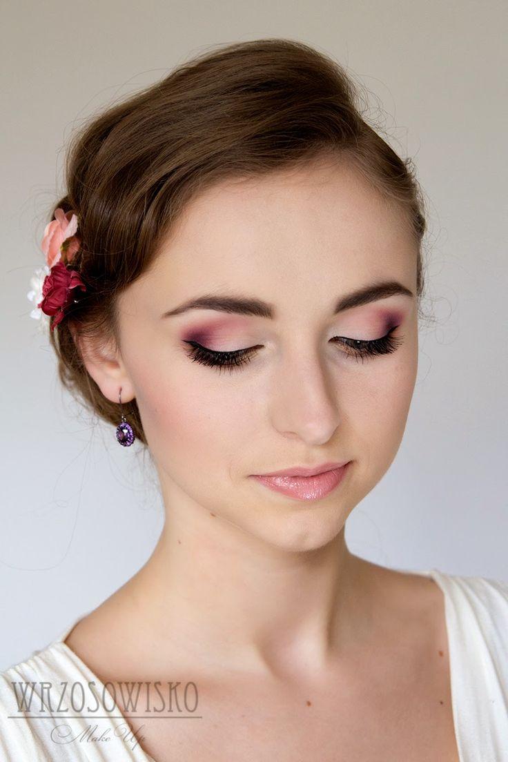 Wrzosowisko- MakeUp Blog: Delikatny i kolorowy makijaż ślubny