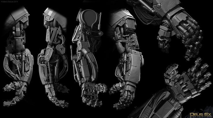 ArtStation - Deus Ex: Mankind Divided - Marchenko Aug sculpt, Frederic Daoust
