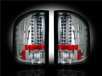 Chevy Silverado 07-13 1500 (2nd GEN Single-Wheel & 07-14 Dually) & GMC Sierra 07-14 (Dually Only) 2nd GEN Body Style LED TAIL LIGHTS - Clear Lens