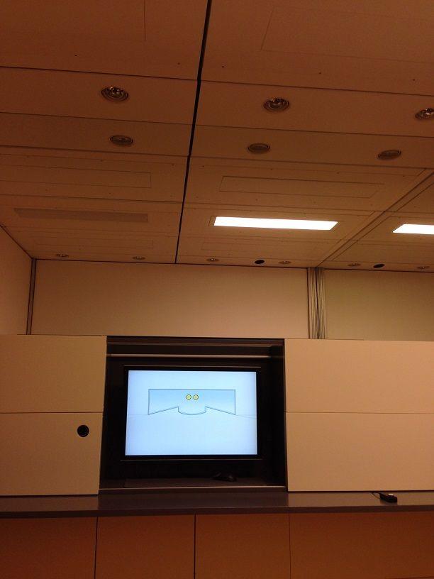Voorbeeld van een 'proef'-kamer, waarin je de lichteffecten optimaal kan beleven.