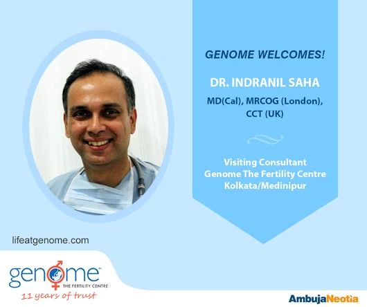 Today let us introduce you to Dr. Indranil Saha - MD (Cal), MRCOG (London), CCT (UK). Dr. Saha is attached as a Visiting Consultant in Department of Reproductive Medicine and Surgery at Genome The Fertility Centre, #Kolkata.