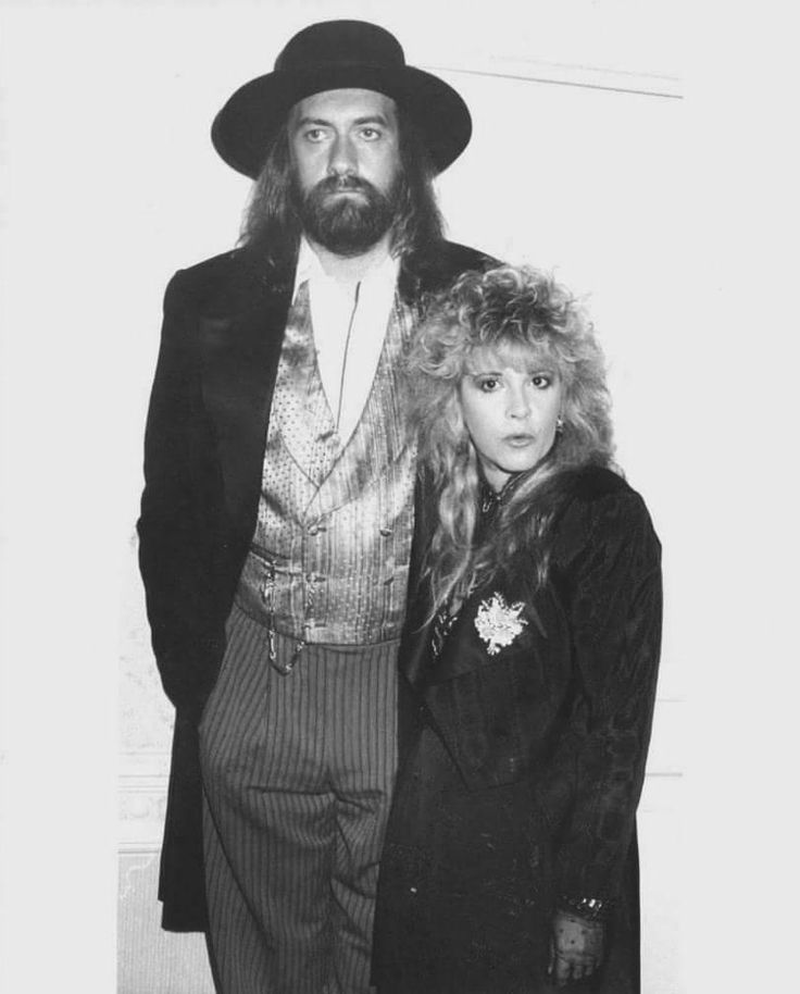 Mick Fleetwood & Stevie Nicks at a  Tango In The Night press conference