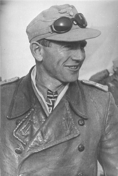 ✠ Bernhard Hamester (21 October 1913 - 22 April 1945) RK 03.09.1942 Oberleutnant Staffelkapitän i. d. III./Stuka-Geschw 3 Killed after being hit by Soviet fire near Trebbin, Germany.