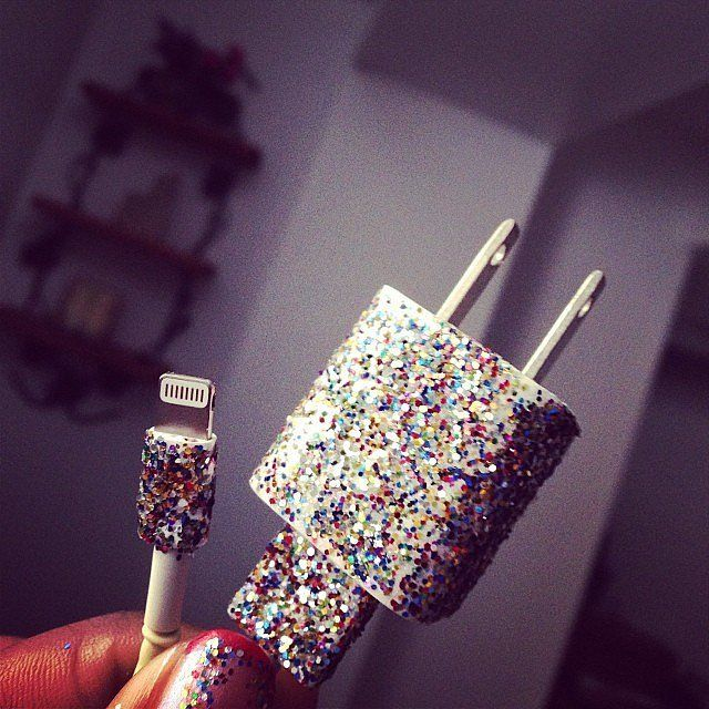 Tech Life Hacks | POPSUGAR Tech--use nail polish to decorate chargers (and distinguish between mine and my husband's charger!)