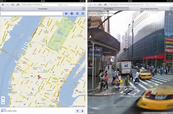 Google Maps for iOS browser adds Street View