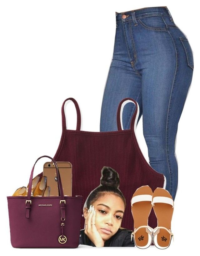 """Untitled #2576"" by alisha-caprise ❤ liked on Polyvore featuring Aéropostale, Michael Kors and 2b bebe"
