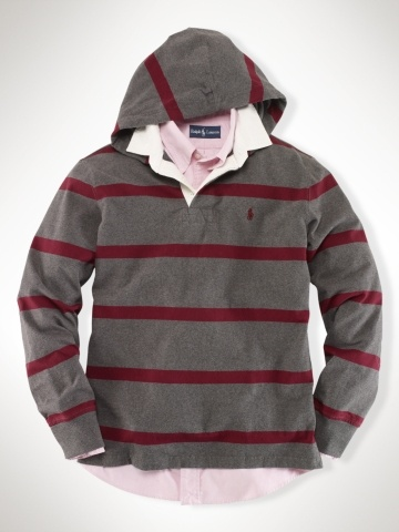 Custom Striped Hooded Rugby - Polo Ralph Lauren