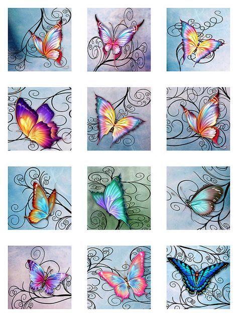 Vlinders Swirls Pastel aquarel papier Instant door pixeltwister