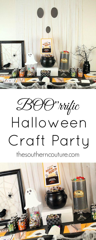 BOO'rrific Halloween Craft Party