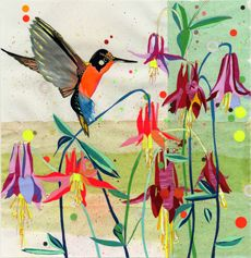 Beautiful Hummingbird and Flowers FROM: © Sarah Beetson