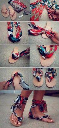 DIY Stylish Flat Shoes