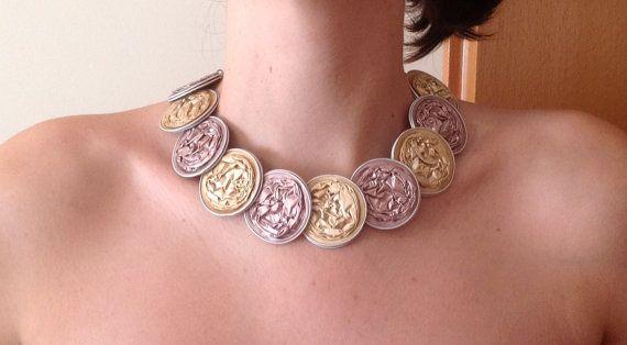 Impero Necklace Short Princess Lenght Retro Handmade by MiaNori, €13.00