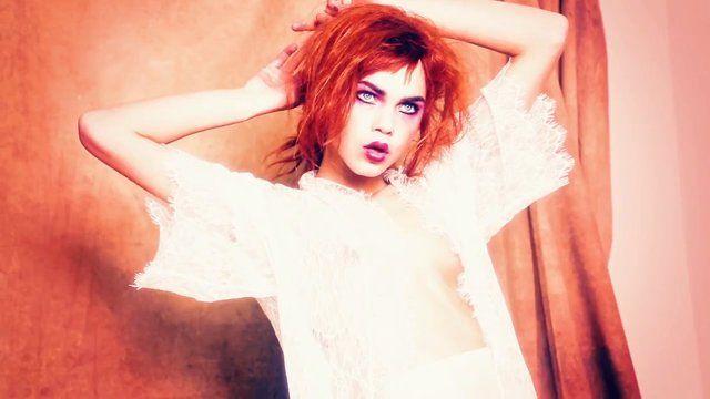 Vogue Italia Beauty, shot by Ellen Von Unwerth; starring Line Brems and Emma Stern Nielsen