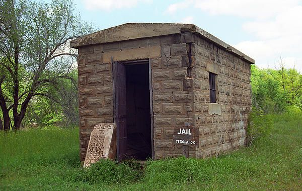 "Route 66 - Texola Jail. The Big House on old Rt. 66 in Texola, Oklahoma. ""The Fine Art Photography of Frank Romeo."""