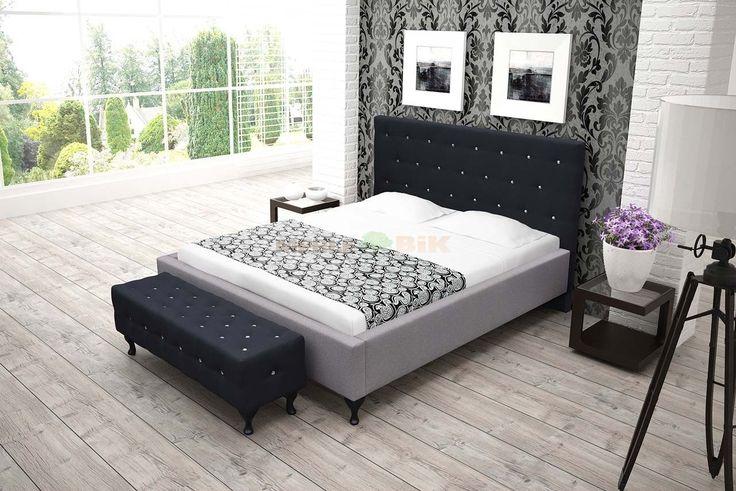 Łóżko tapicerowane 3 do sypialni z stelażem - BIK - sklep meblowy Meble BIK
