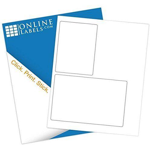 "FBA Shipping Labels (2,000 Sheets) Blank White Matte, Laser/Inkjet Compatible - 3.5"" x 5"", 6.75"" x 4.5"" Labels, 2 Labels Per Sheet = 4,000 Total Labels - Online Labels"