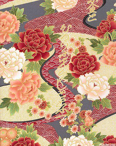 Exotic Garden - Gentle River - Quilt fabrics from www.eQuilter.com