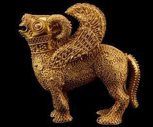 """SPAIN / IBERIA (Pre-Roman Spain) - Tartesos goldsmiths' work. The Tartessians were rich in metal. In the 4th century BC the historian Ephorus describes """"a very prosperous market called Tartessos, with much tin, gold and copper. The people from El carnero alado de Ribadeo"""