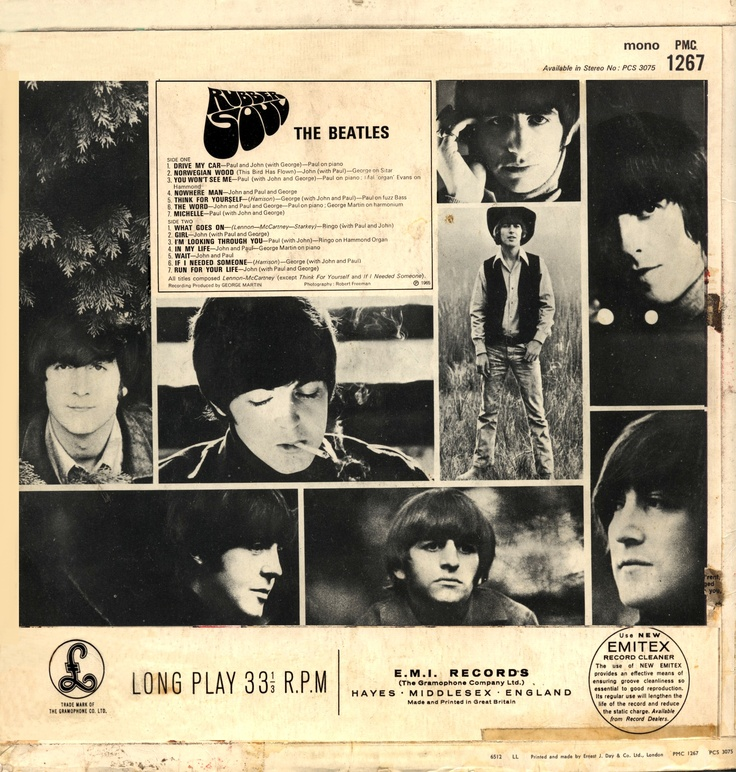 The Beatles: Rubber Soul. English version with 14 songs