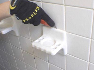Removing old bathroom tile.