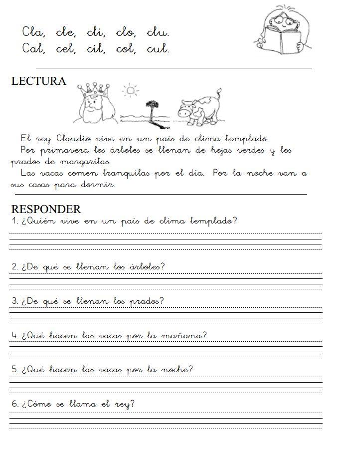 MilagroTIC: LECTOESCRITURA - FICHAS IMPRIMIBLES PDF- RECURSOS- INFANTIL- PRIMER CICLO PRIMARIA - NIVEL 3