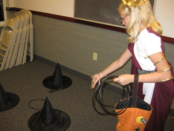 witch hat ring toss halloween game