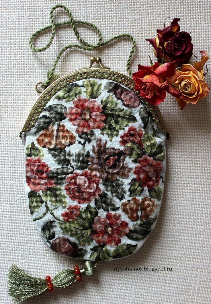 Пустячок, а приятно.: сумочка с вышивкой