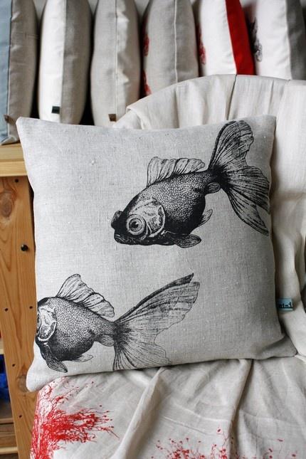 fish pillows $55 sea room